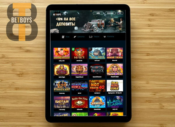 Онлайн казино Betboys Casino мобильная версия на iPad